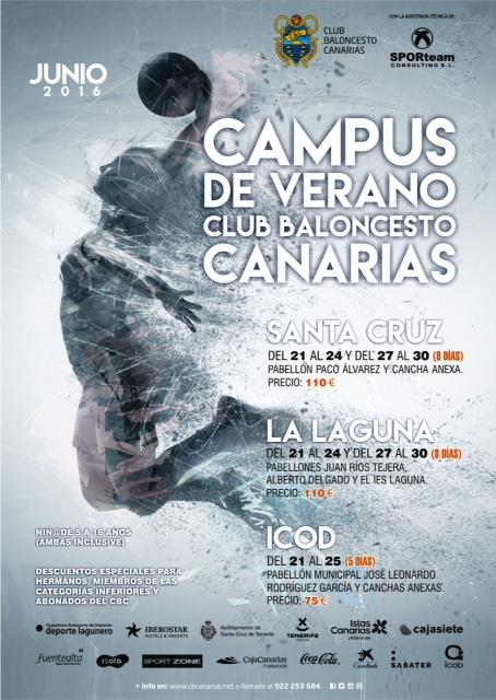 EL CB CANARIAS CONVOCA SU CAMPUS DE VERANO