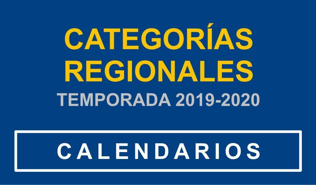CALENDARIOS de las LIGAS REGIONALES PARA LA TEMPORADA 2019-2020